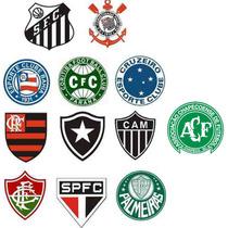 Kit 25 Adesivo Time Futebol Chapecoense Palmeiras Galo