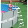Escada Piscina Intex 122 132 Cm Altura Deluxe Branca #58971