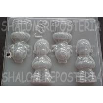 *molde Chico 4 Niños Precious Moments Baby Chocolate Jabon