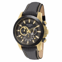 Relógio Technos Performance Grande Dourado Couro Os2aaz/0p