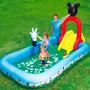 Piscina Inflable Niños Con Juego Disney Playa Jardines Mar