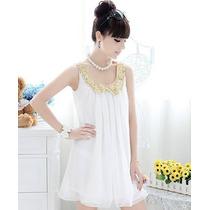 Lindo Vestido Branco Curto Casual Noite Festa Adolescente