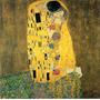 Foto Para Quadro Gustav Klimt 90x91cm Kiss Obra Arte O Beijo