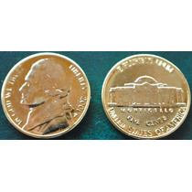 Estados Unidos *oro* 5 Cent.jefferson Año 2001*p* Oro 24 Kts