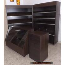 Set 4 Muebles Panadería - 1,4m Frente - Mel 18mm - Santa Fe