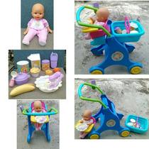 Muñeca Y Coche Little Mommy De Fisher Price