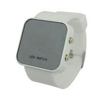 Relógio Led Sport Espelhado Branco - Design E Conforto