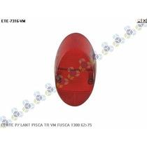Lente P/ Lanterna Pisca Traseiro Vermelho Fusca 1300 62/75