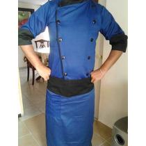 Filipina Chef Azul Rey Mandil Y Gorro