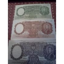 Billetes Moneda Nacional 50-100-1000- Los De La Foto M/b