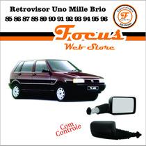 Retrovisor Externo Uno Mille Brio 85/96 C Controle Manual Ld