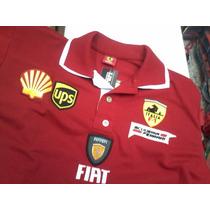 Camisa Importada Polo Ferrari Gola Dupla - Modelo Novo