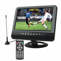 Tv Portátil Lcd 9 Polegadas Sinal Analógico+ Controle Remoto