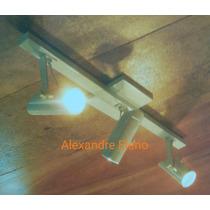 Kit 2 Spot Trilho Teto Para 3 Lâmpada Dicróica Comum Ou Led.