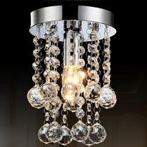 Lámpara Moderna De Cristal Cortado Elegante Decoración 23cm