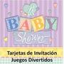 Kit Imprimible Tarjetas Invitacion / Juegos Para Baby Shower