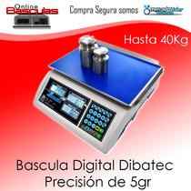 Bascula Digital 40 Kg Dibatec Reforzada, Envio Gratis!!!