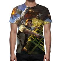 Camisa, Camiseta Game Uncharted 3 Drake´s Deception