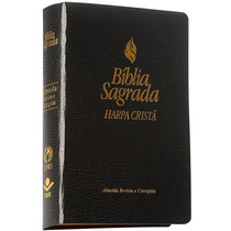 Bíblia Sagrada Com Harpa Cristã -almeida Revista E Corrigida