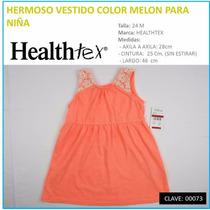 Vestido-niña Color Melón Marca Healthtex T 24 M Envío Gratis