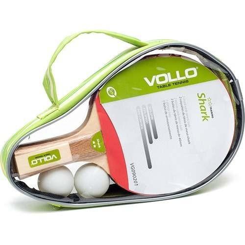 Kit Tenis Mesa Ping Pong 2 Raquetes + 2 Bolas Vg090201 Vollo - R  57 ... 41229b7f29830