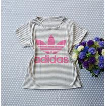 T-shirt Blusinha Feminina Estampada Adidas E All Star