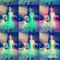 Vestido Corto De Xv Años Verde Menta