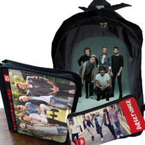 One Direction Mochila O Morral+cartuchera+carpeta