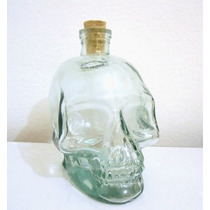 Garrafa De Caveira Vidro 750ml Crânio Bebida Cristal Vasos