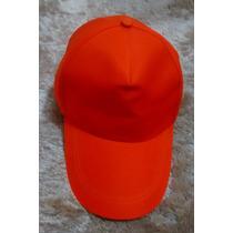 Boné Unissex Cap Chapéu Viseira Novo Ajustável Laranja