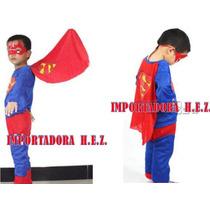 Disfraz Superman Ropa Carnaval Niño Nuevo Talla S M L