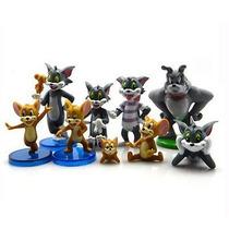 Tom & Jerry Set 09 Bonecos Gato Rato Cão Miniaturas