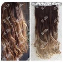 Alongamento Aplique Tictac Californiana Ombré Hair 60cm 8/85