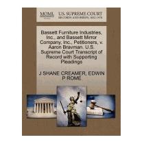 Libro Bassett Furniture Industries, Inc., And, J Shane Cream