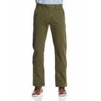 Pantalon Springfield 100% Algodon Color Verde Caqui