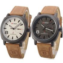 Relógios Curren Originais Pulseira De Couro Vários Modelos