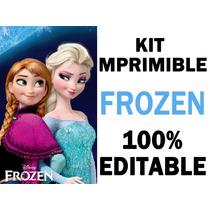 Super Kit Frozen Imprimible Invitaciones Fiesta
