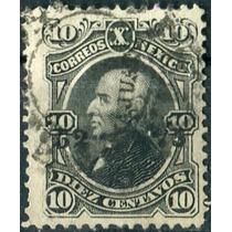 1837 Clásico Hidalgo Scott #107 Guanajuato #52 75 25c Usado