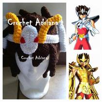 Caballeros Zodiaco Pegaso Gorro Tejido Crochet
