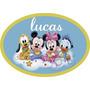 Placa Personalizada Turma Disney Baby Painel 40x27cm Mdf