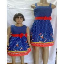 Vestido Galinha Pintadinha Kit Mãe E Filha Tamanhos 8 E 10