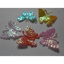 12 Mariposas De Tela Para Manualidades Jabones Lazos Cintill