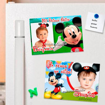 Mickey Mouse 10 Souvenirs Infantiles Foto-imanes . Divinos!!