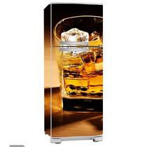 Adesivo De Geladeira Inteira Copo De Bebida (frigobar)