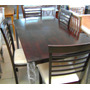 Antecomedor Preston Mesa Y 6 Sillas Chocolate Y Crema