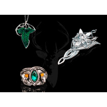 Kit Conjunto Rei Aragorn Evenstar Folha Élfica Anel Dúnedain