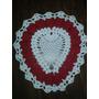 Tapete Coração Em Croche Vermelho E Branco