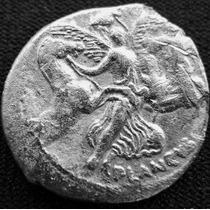 Moeda Antiga Imperio Romano Denário Prata Plautius Plancus