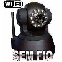 Câmera Ip Infra Wireless Pan Tilt Sem Fio Wi Fi Conexão Web
