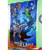 Liga Justicia Batman Cortina Recamara Decoracion Bano Superm